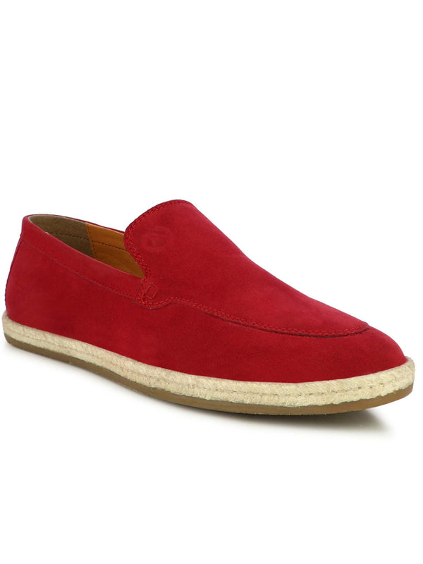 Alberto Torresi Men Hoston Red Casual Slip-Ons