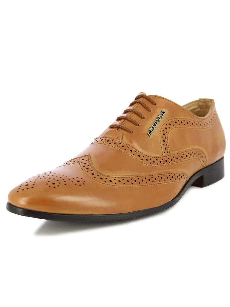 Alberto Torresi Men's Memphis Tan Formal Shoes