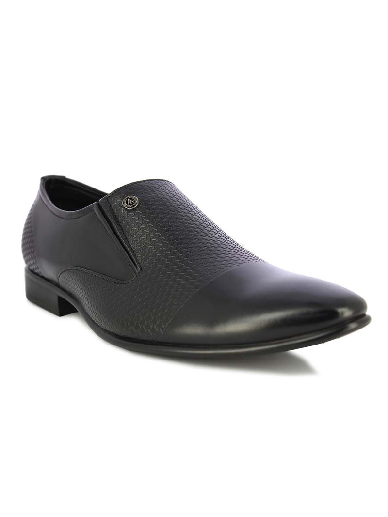 Alberto Torresi Men's Artwin Black Formal Shoes