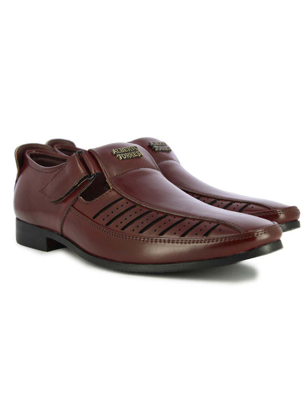 Alberto Torresi Men's Bordo Tepic Bordeaux Sandals