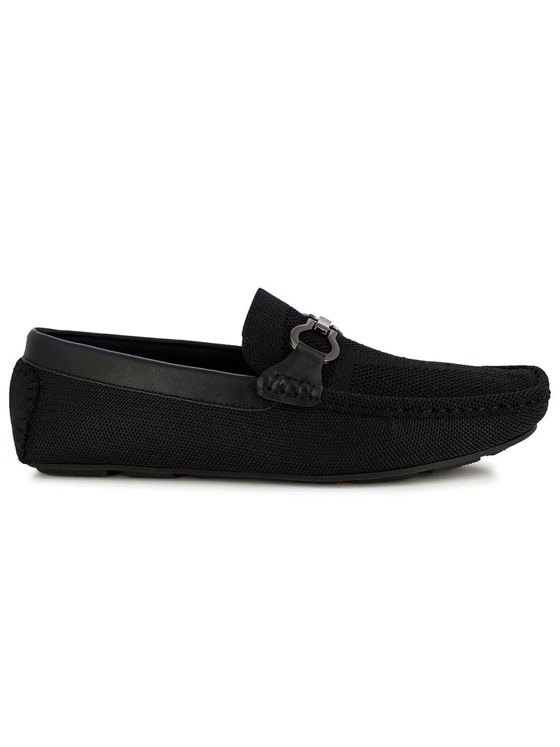 Alberto Torresi Men's Embry Black buckled loafers