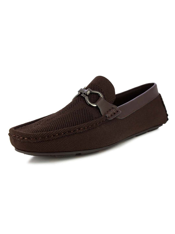 Alberto Torresi Men's Embry Brown buckled loafers