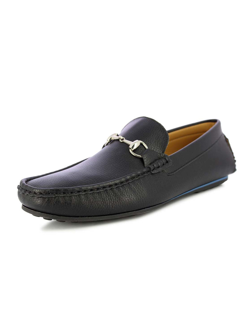 Alberto Torresi Men's Barton Black buckled Loafers