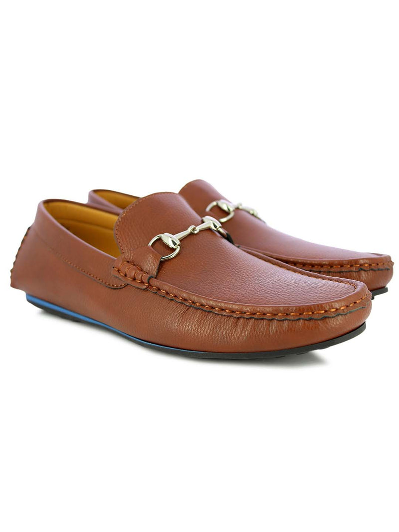Alberto Torresi Men's Barton Tan buckled Loafers