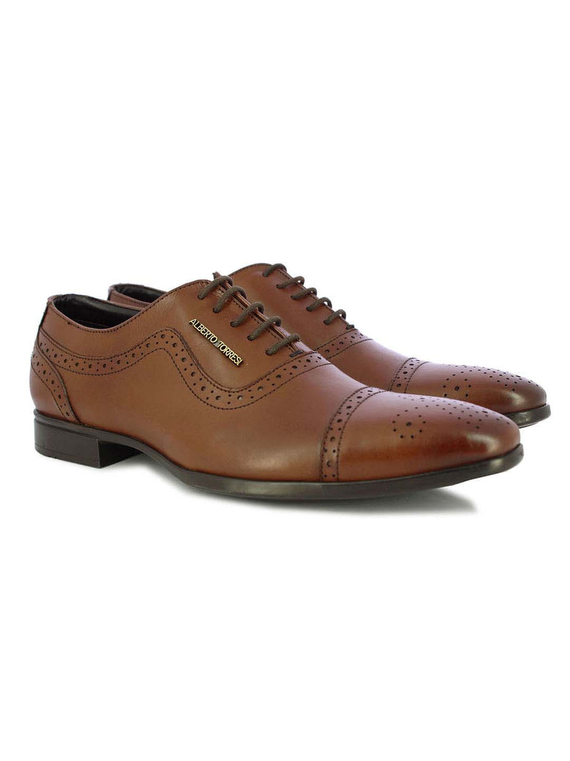 Alberto Torresi Ginom Camel Formal Shoes