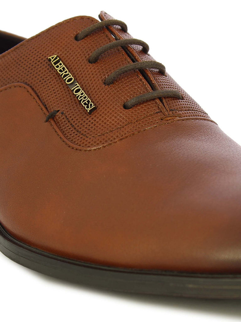 Alberto Torresi Men's Tan Lace Shoe