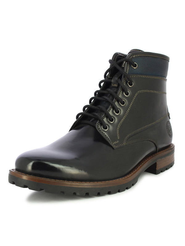 Alberto Torresi Men's Corban Black and Blue Boots