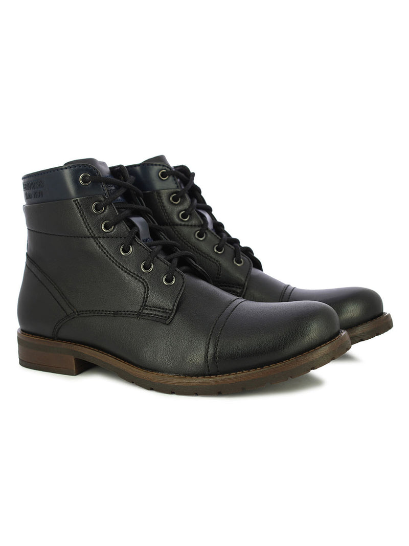 Alberto Torresi Men's Verell Black and Blue Boots