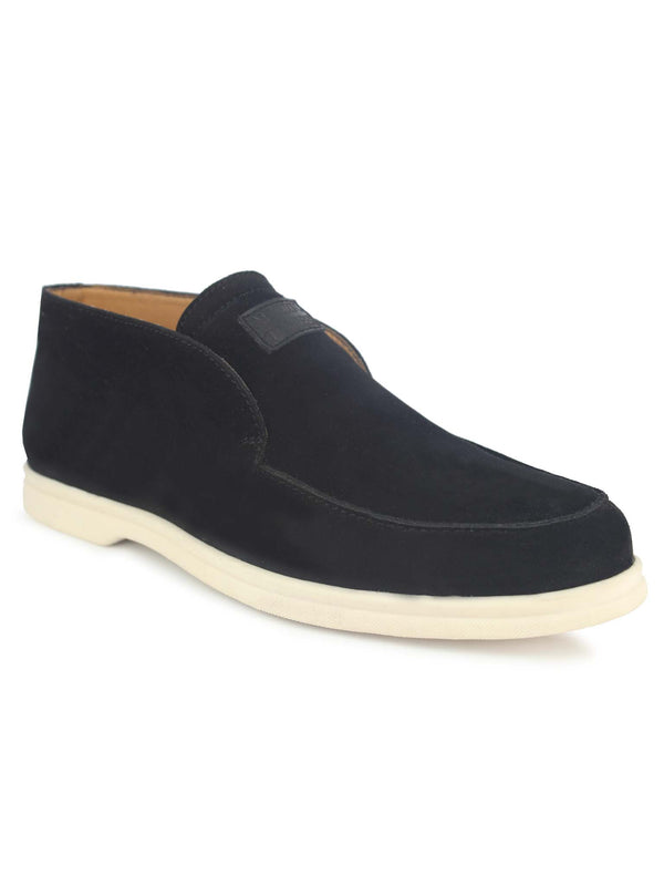 Alberto Torresi Barb Men's Black Velvet Slipons