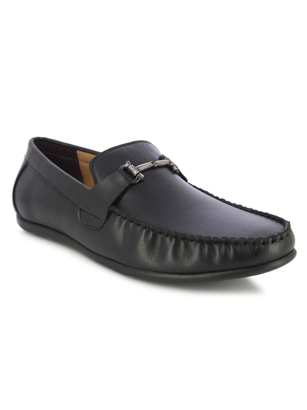 Alberto Torresi Men's Black Loafers