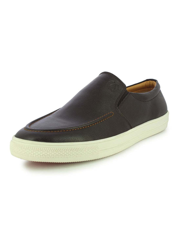 Alberto Torresi Men's Astle Brown Slip-ons