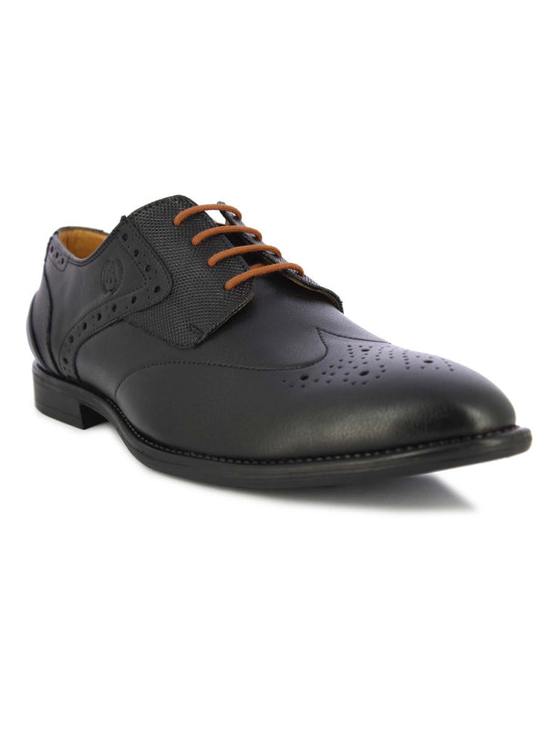 Alberto Torresi Men's Black & Tan Lace Shoe