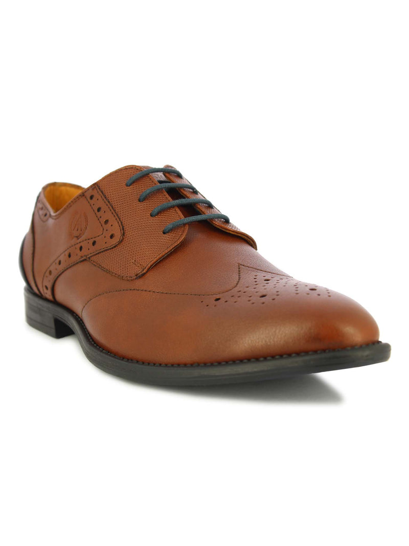 Alberto Torresi Men's Tan & Blue Lace Shoe