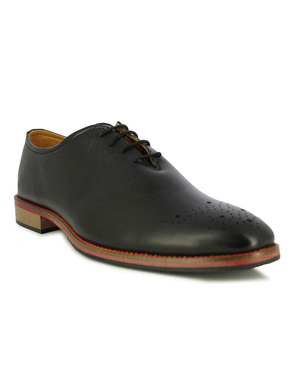 Alberto Torresi Kenny Toe Black Oxford Shoes
