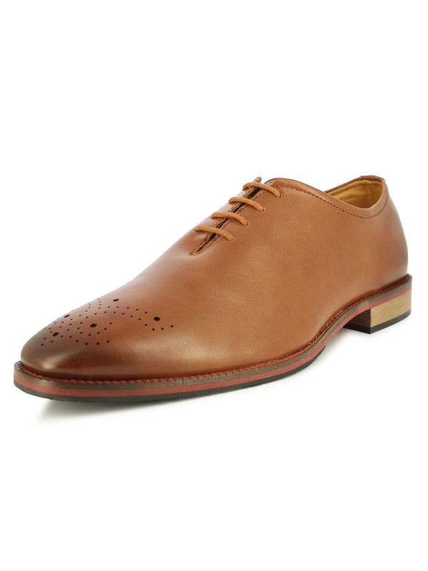 Alberto Torresi Kenny Toe Tan Oxford Shoes