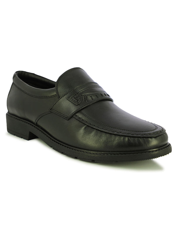 Toluca Men's Black Formal Slip-Ons