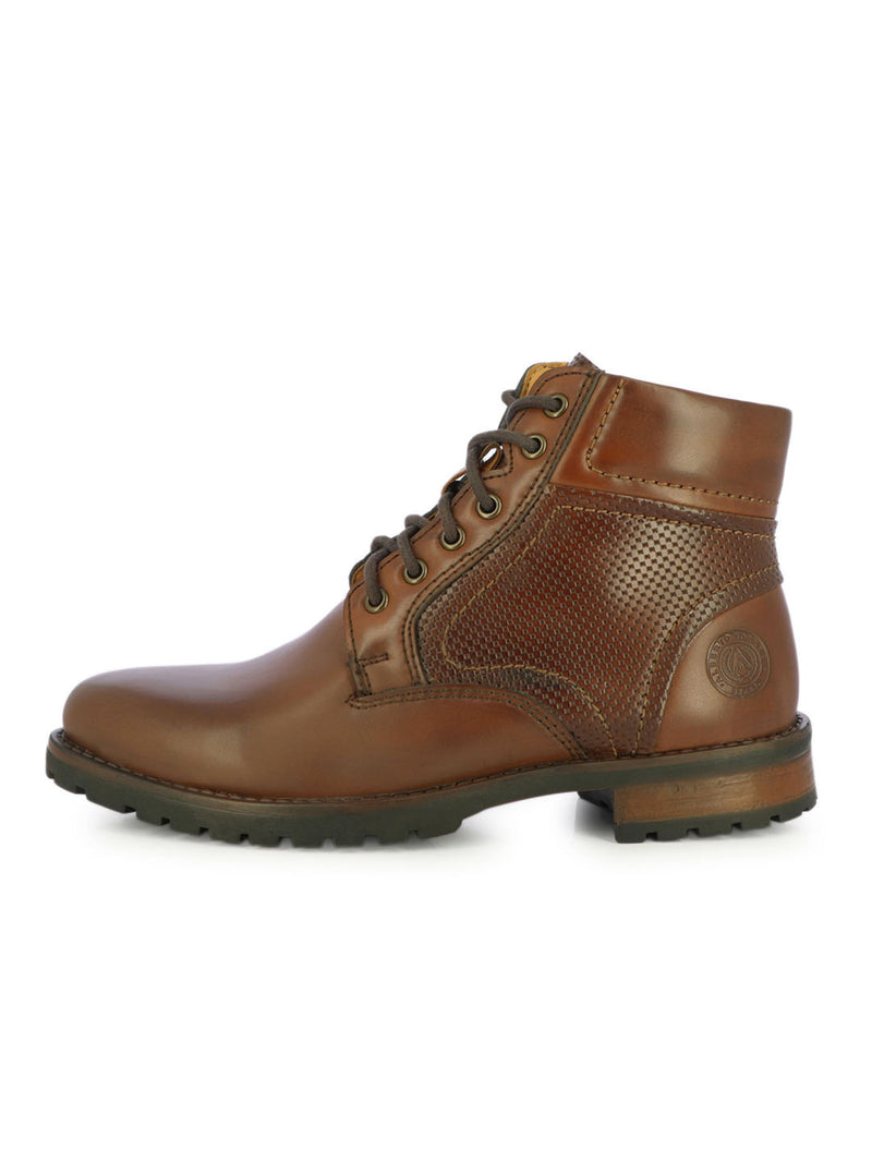 Alberto Torresi Men's Tybalt Textured Brown Boots