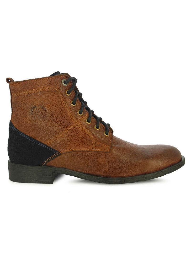 Alberto Torresi Men's Osric Cognac and Navy Boots