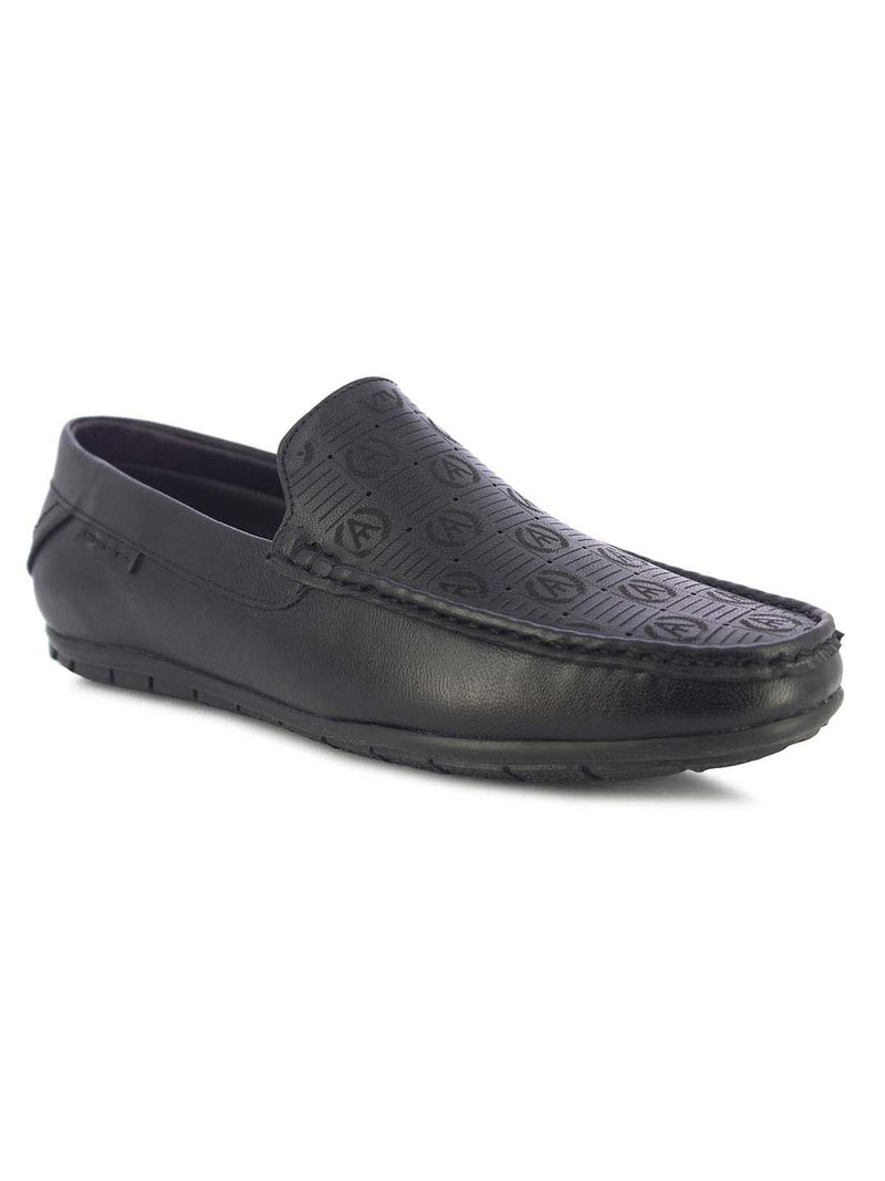 Alberto Torresi Zeus Men's Black Loafers