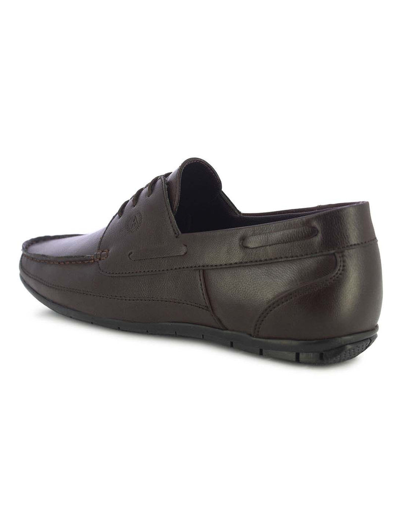 Alberto Torresi Moore Men's Brown Boat Shoes