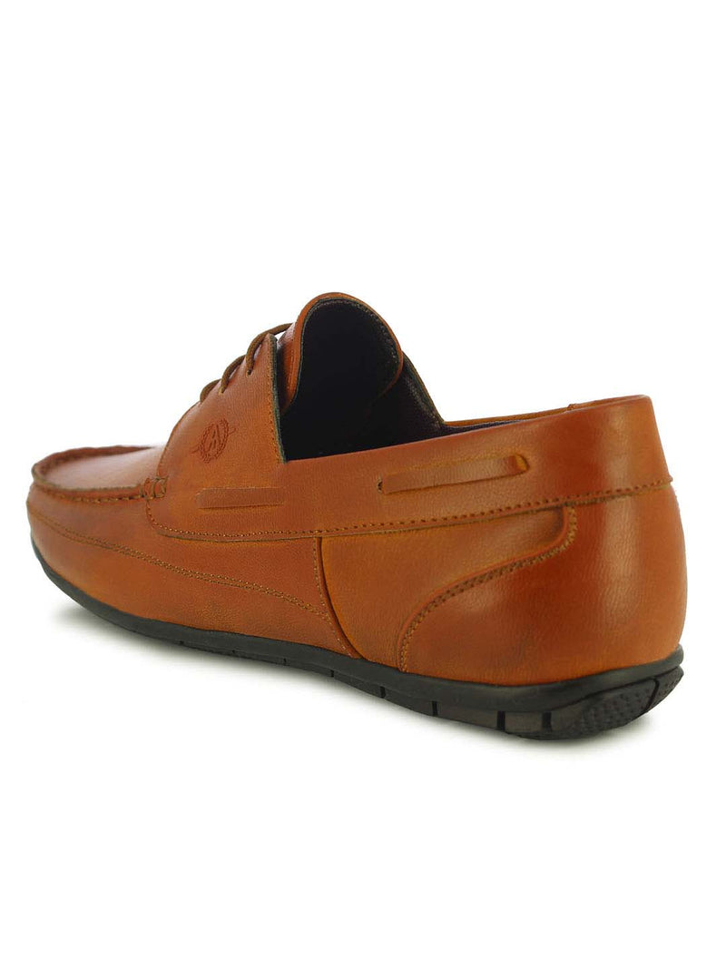 Alberto Torresi Moore Men's Tan Boat Shoes