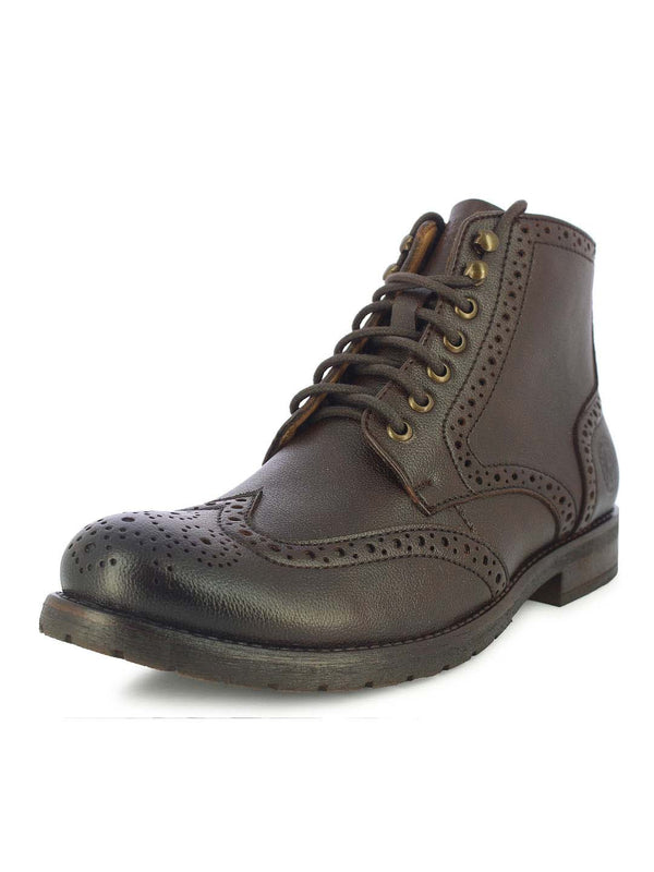 Alberto Torresi Men's Friar Brown Brogue-Boots