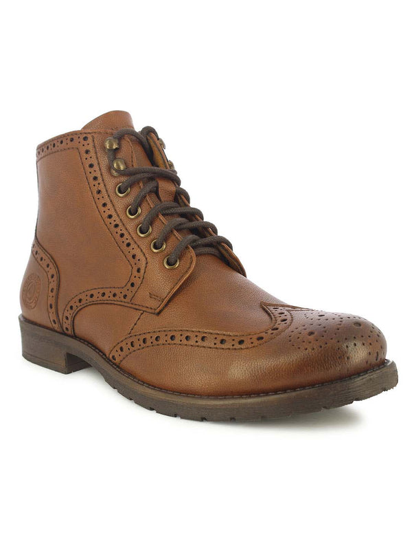 Alberto Torresi Men's Friar Tan Brogue-Boots