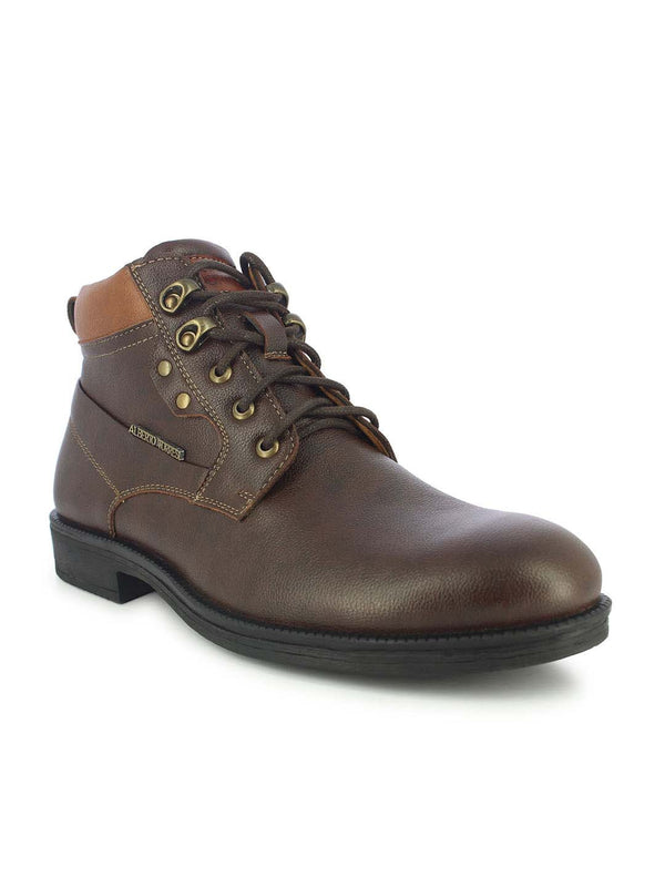 Alberto Torresi Men's Reynad Brown and Tan Boots