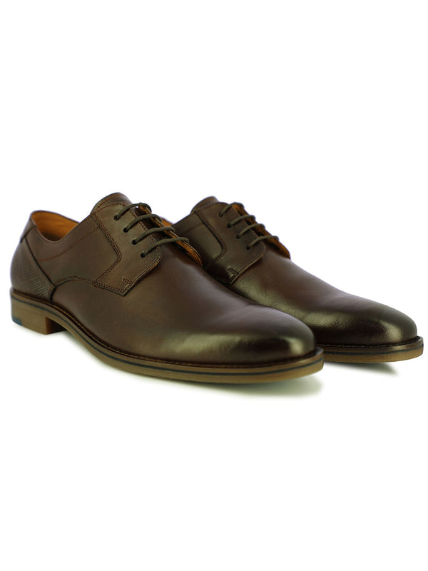 Berny Men's Dark Brown Wingtip Formal Shoes