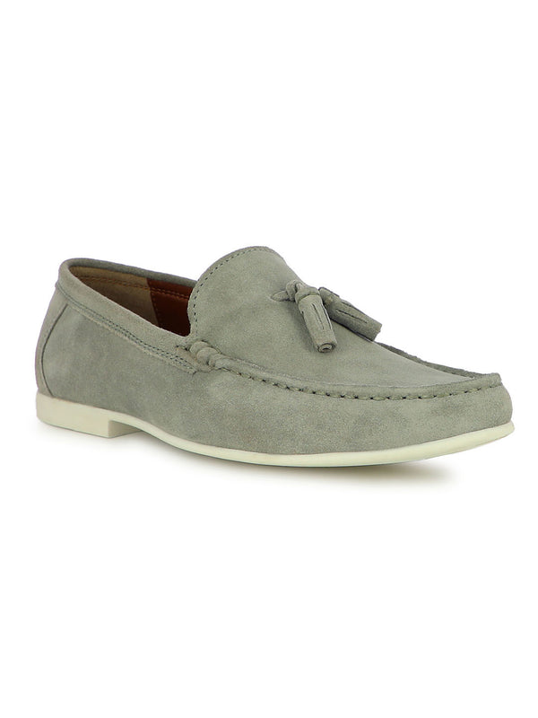 Funen Men's Grey Casual Loafers