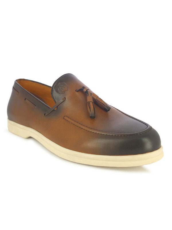 Alberto Torresi Bergamo  Men's Tan Tassel Shoes