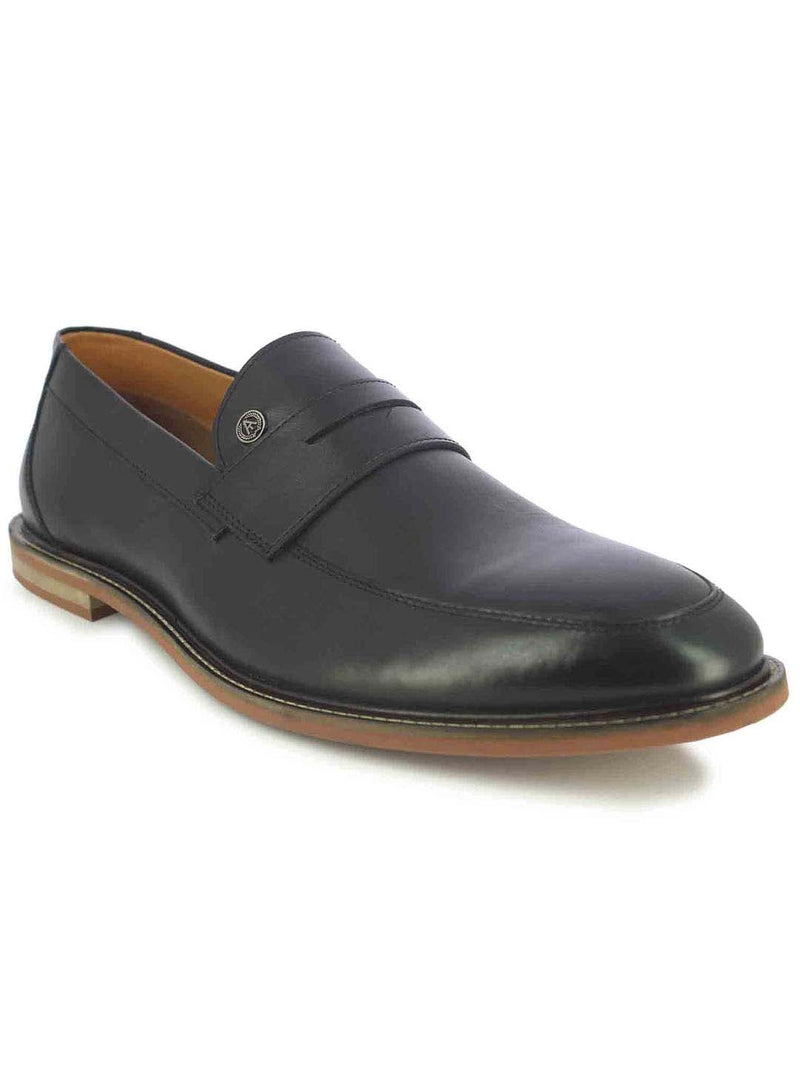 Alberto Torresi Carlisle Men's Black Penny Loafers