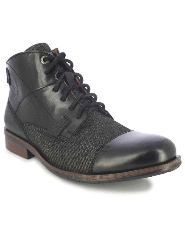 Alberto Torresi Barka Men's Black & Grey High-Top Boots
