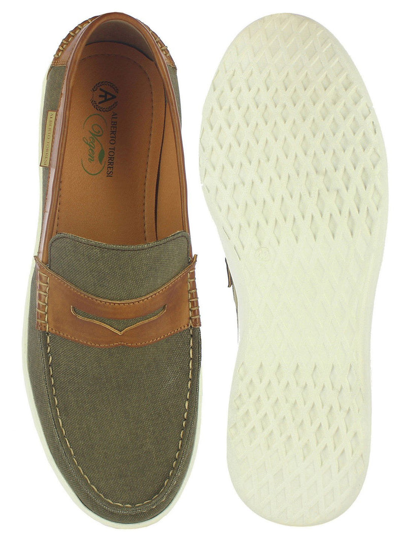 Alberto Torresi Lewis men's Olive Casual Loafers