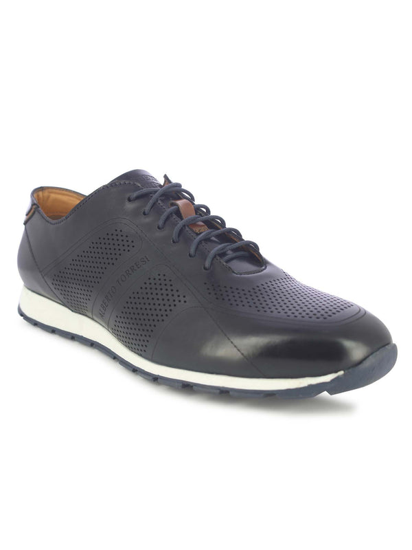 Alberto Torresi Men's Florid Blue Sneaker Shoes