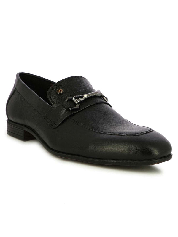 Alberto Torresi  Bristol Buckled Black Dress Loafers