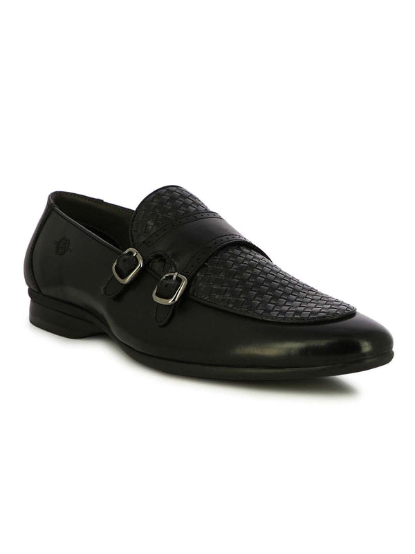Alberto Torresi Palermo Black Men's Double Monk Strap Shoes