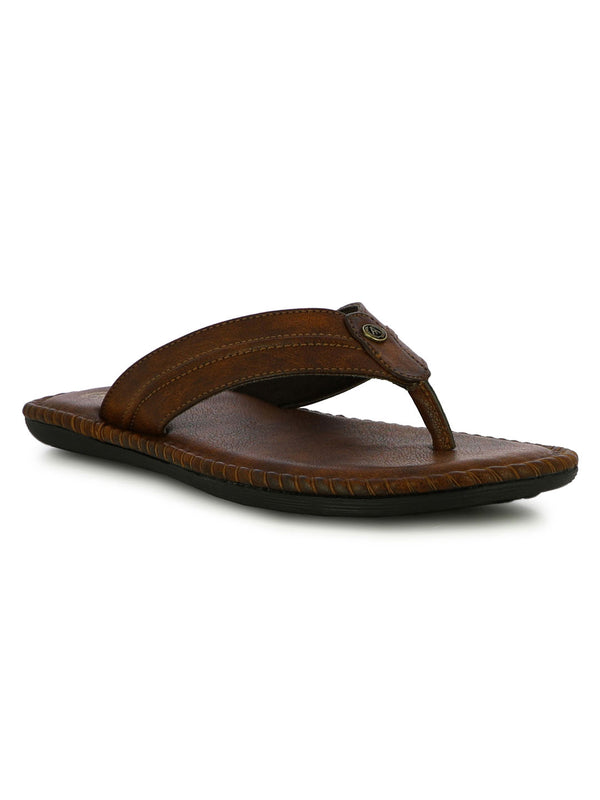 Alberto Torresi Men's Teddy Brown Slippers