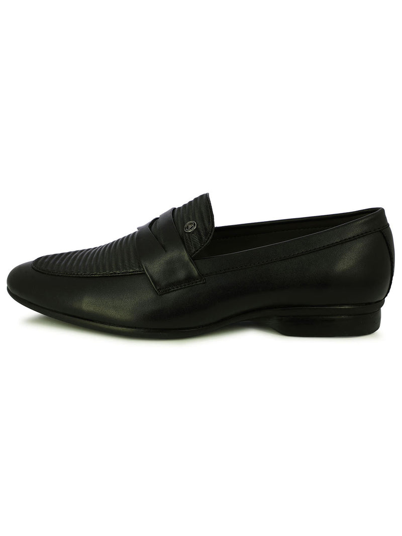 Alberto Torresi Men's Covex Black Men's Formal Slip-Ons