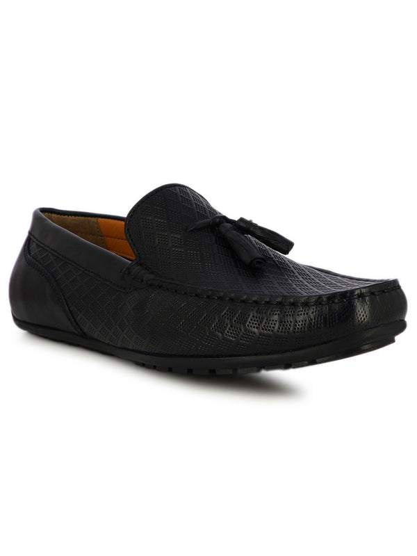 Jacob Men's Black Formal Tassel Slipons