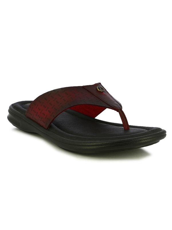 Alberto Torresi Devil Red V-Strap Slippers
