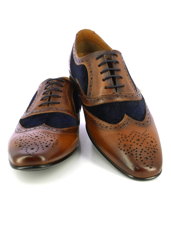 Tan and Navy leather brogues