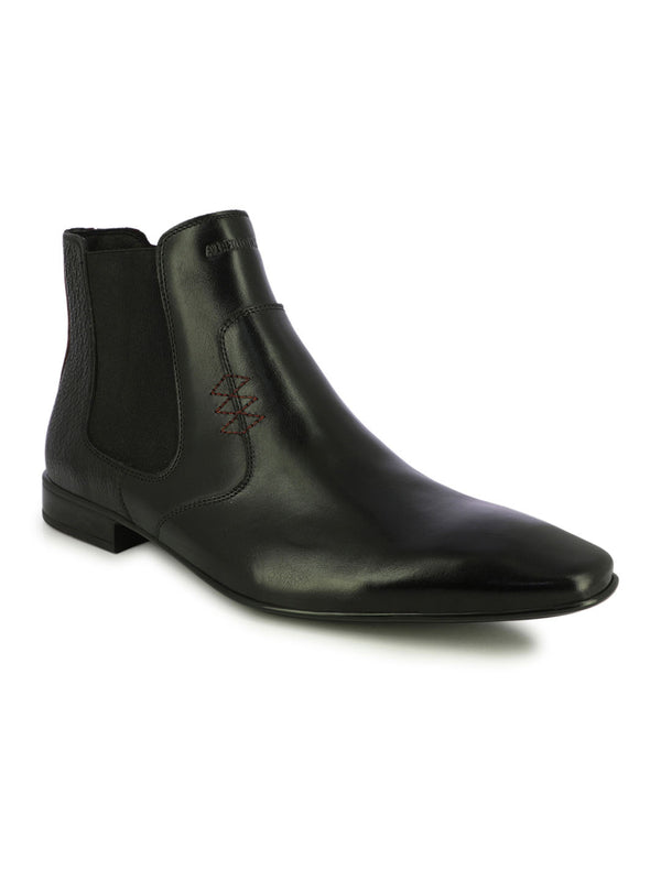 Wingtip Black Ankle Length Boots