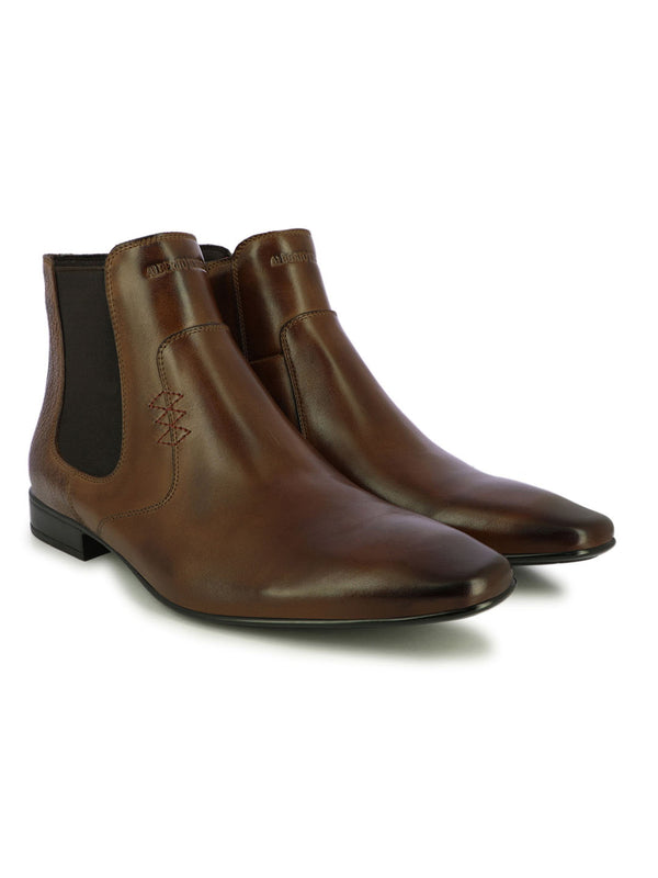 Wingtip Brown Ankle Length Boots