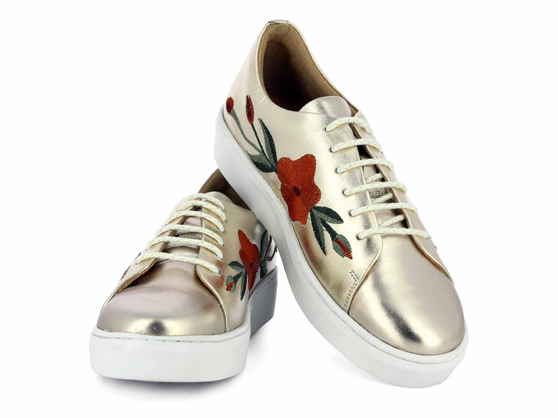 Alberto Torresi DOTIM Gold Shoes