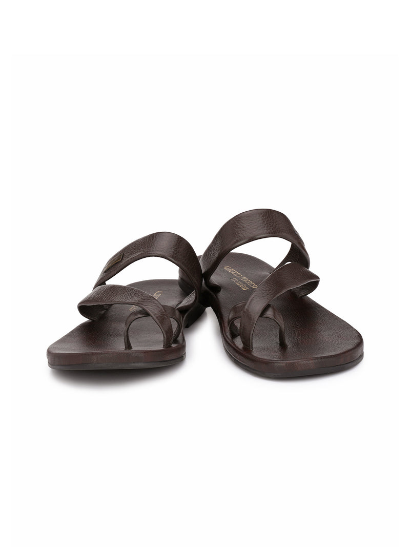 Alberto Torresi Piero Brown Slippers