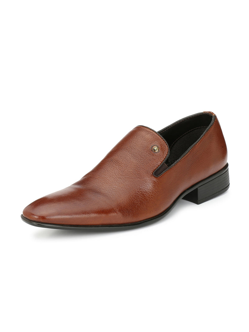 Alberto Torresi Manno Tan Leather Men Formal Shoes