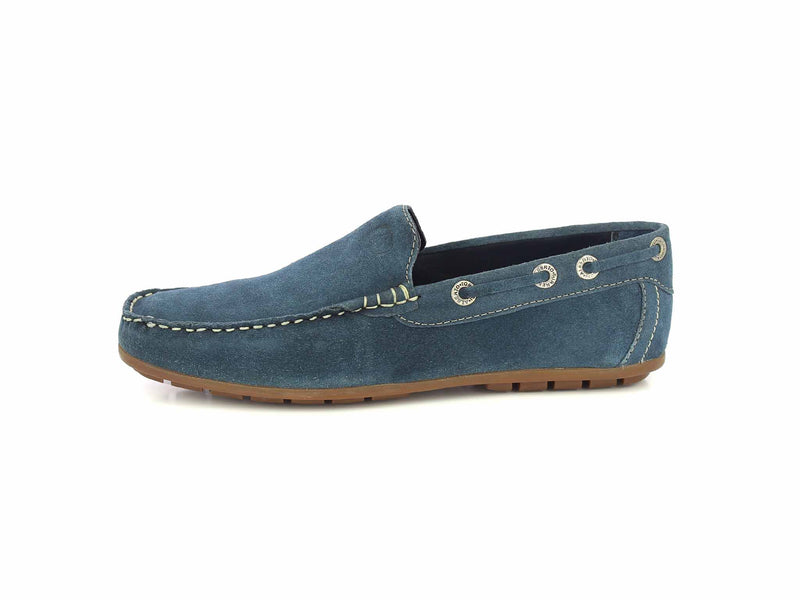 Dark Blue Leather Casual Shoes