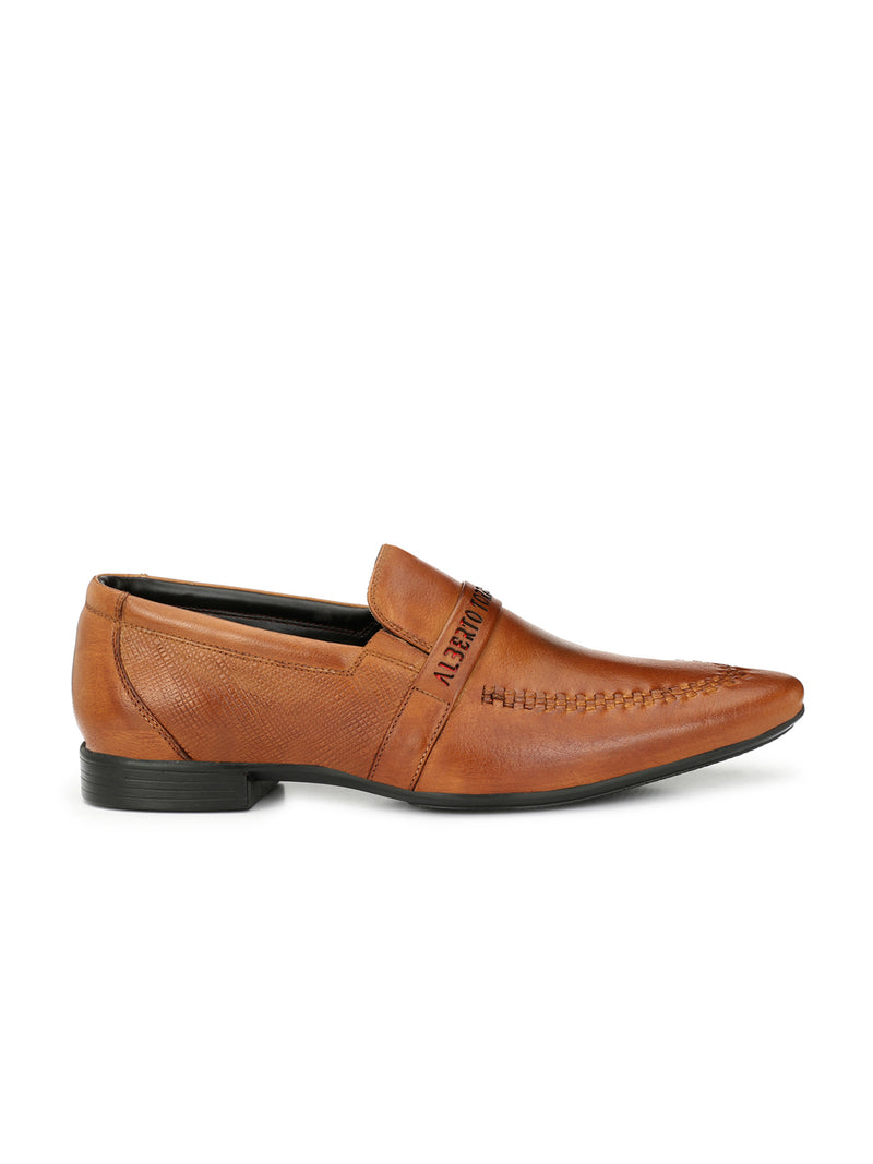 Alberto Torresi Fami Tan+Red Formal Shoes