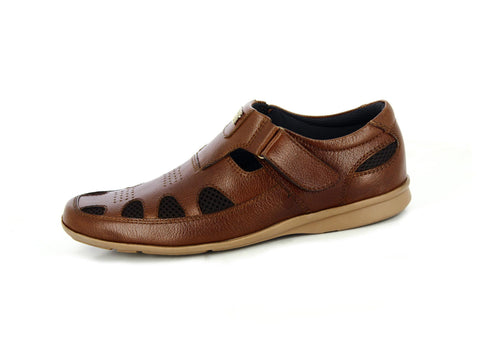 Alberto Torresi Abbey Tan+Brown Sandal